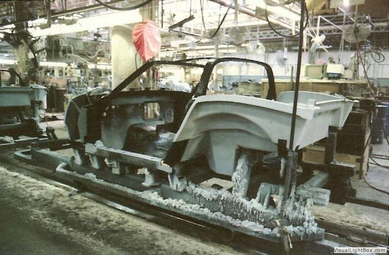 Pictures of the C3 Corvette Assembly Line circa 1980