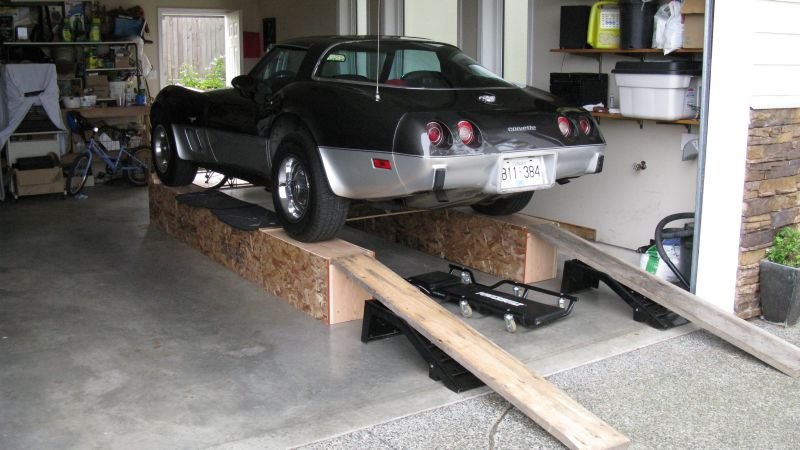 Diy Car Ramps : Corvette c ramps build home made car
